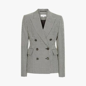 NWT Reiss Tyler Houndstooth Double Breasted Blazer